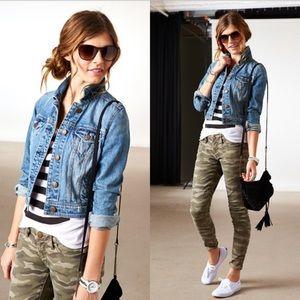 American Eagle cropped jean jacket size S